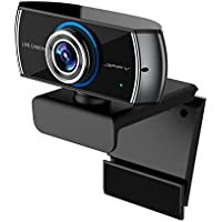 JIFFY C100 FULL HD 1080P H.264 streaming Webcam with Microphone, Widescreen Video Calling and Recording, 1080p Camera, Desktop or Laptop Webcam