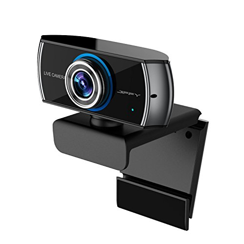 Price comparison product image JIFFY C100 FULL HD 1080P H.264 streaming Webcam with Microphone,  Widescreen Video Calling and Recording,  1080p Camera,  Desktop or Laptop Webcam