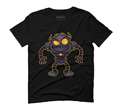 Angry Robot Men's Graphic T-Shirt - Design By Humans Black