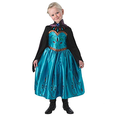 Elsa Kostüm Coronation - Elsa Coronation Dress Frozen - Child Gr. S (3-4 Jahre) Fasching Karneval Kostüm Kinderkostüm Mottoparty Kleid