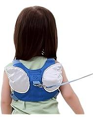 Laat portátil ventilación verano bebé anti-lost mochila caminar arnés de seguridad Mochila cuerda de tracción niños bolso de doble uso para bebé arnés de seguridad Riendas Mochila bolsa, azul