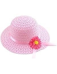 SAMGU Été Filles Enfants Plage Chapeaux Fleur Chapeau de Paille enfants Chapeau de soleil 2-6 ans