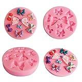 LBOJA Bowknot Silikonform DIY Kuchen Fondant Cookie Schokolade Backen Dekorieren Tool - Pink