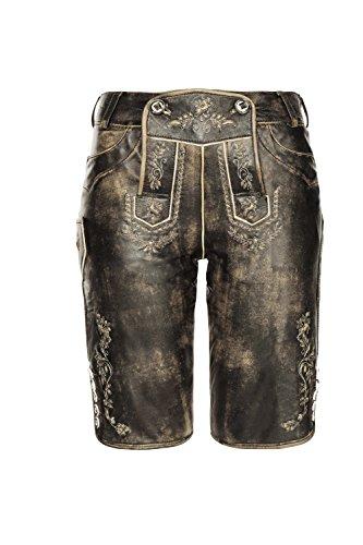 Stockerpoint - Damen Trachten Lederhose aus Ziegen Nappa Leder, Knielang, Pam, Größe:34;Farbe:Brown (Fashion Vintage Trachten)