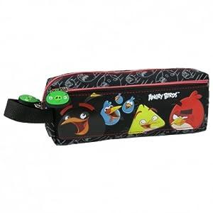 Disney-Estuche escolar para niños, diseño de ANGRY BIRDS 2 compartimentos de calidad superior