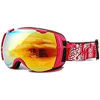 TZQ Doppel Anti-Fog Skibrille Doppelplatte Goggles Wandern Spiegel Sonnenbrille,B