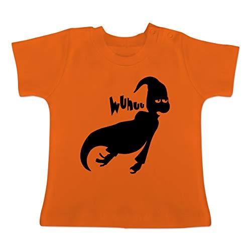 Anlässe Baby - Geist - 1-3 Monate - Orange - BZ02 - Baby T-Shirt Kurzarm