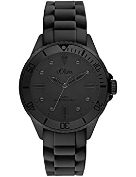s.Oliver Time Unisex Erwachsene-Armbanduhr SO-3415-PQ