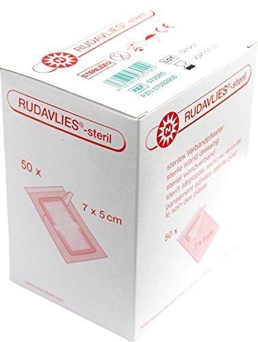 50 Stück steril Wundpflaster Rudavlies steril Pflaster 7 cm x 5 cm