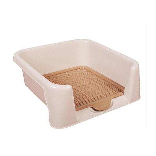 DAN Hundetoilette Tier-WC Hundeabtropfschale Hundetrainingsmatte Haustiermatte Medium / Large , 56*43*15cm