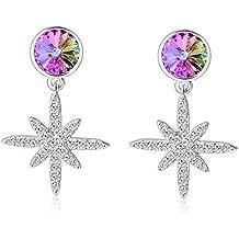 "SIVERY""Clusters of Stars"" Cubic Zirconia Stud Dangle Earrings, Earings for Womens, Jewellery for Women"