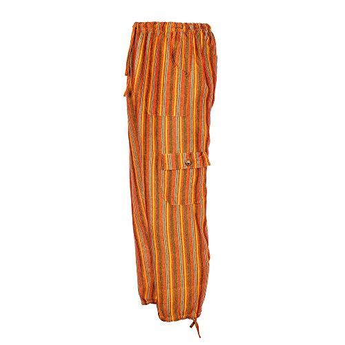 Farbige Baumwollhosen ethisch gehandelt, sehr bequem, in Ecuador für Tumia gefertigt Orange