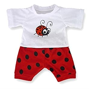 Red LB Bug PJs Pyjamas Teddy Bear Clothes fit Build a Bear Factory Teddies