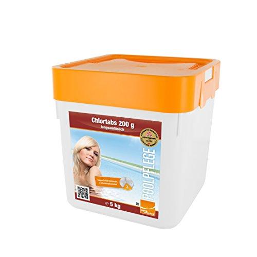 Steinbach Poolchemie Chlortabs, 200 g langsamlöslich, 5 kg, Desinfektion, 0752205TD02