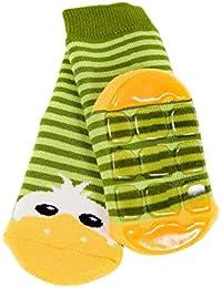 Weri Spezials Baby und Kinder Voll-ABS Socke Enten Motiv in Marine