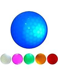 Gazechimp 6 Pedazos Pelota de Golf Noche con LED Oscuro Tamaño/Peso Oficial de Torneo