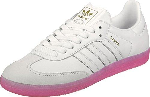 adidas Damen Samba Sneaker, Weiß (Footwear White/Footwear White/Easy Pink), 36 EU