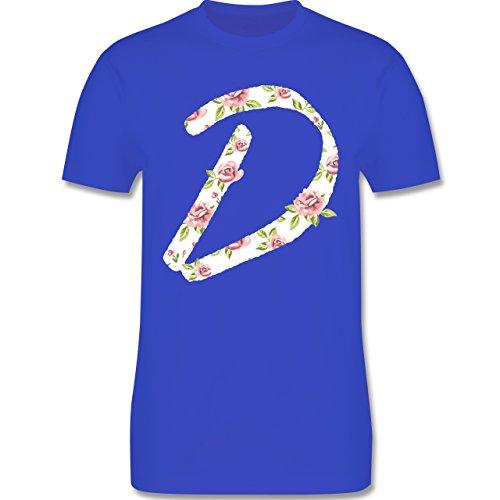 Anfangsbuchstaben - D Rosen - Herren Premium T-Shirt Royalblau