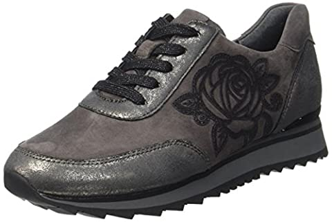 Gabor Shoes Gabor Casual, Derbys Femme, Gris (Carbone/Dark-Grey), 40.5 EU