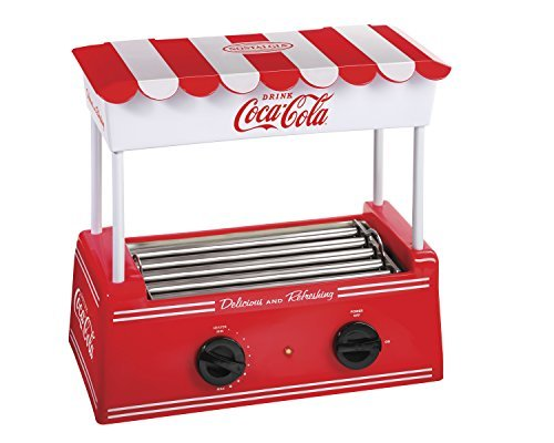 Nostalgia HDR565COKE Coca-Cola Hot Dog Roller with Bun Warmer