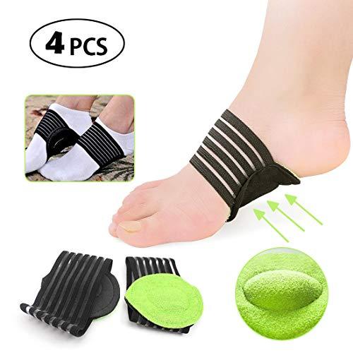 Plantarfasziitis Arch Support mit mehr gepolstertem Komfort für Plantarfasziitis, gefallene Bögen, Fersensporn, flache und Achy-Fuß-Probleme -