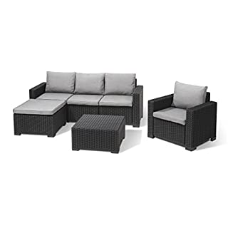 Allibert Lounge-Set Moorea 4tlg, graphit/panama cool grey