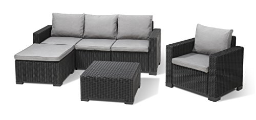 Allibert Lounge-Set Moorea 4tlg, graphit/panama cool grey -