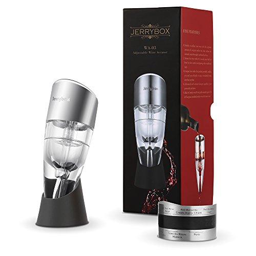 Décanteur à vin rouge, Aérateur vin, Réglable, Jerrybox WA-03. Essentiel pour les vins rouges et blancs, Idée Cadeau pour la maison, un bar ou les diners