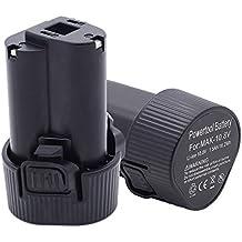 2X Batería para Makita BL1013 194550-6 194551-4 TD090DWE TD090D DF030D DF330D Li-Ion 10,8V 1,5Ah LG celular nuevo