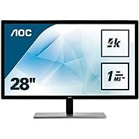 AOC U2879VF 71,1 cm (28 Zoll) Monitor (VGA, DVI, HDMI, DisplayPort, 1ms Reaktionszeit, 60Hz, 3840 x 2160) schwarz