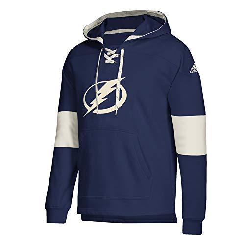 adidas Tampa Bay Lightning Vintage NHL Jersey Hoodie Blau, M