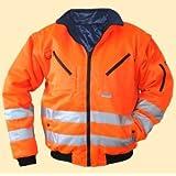 ELDEE 40897 - Cazadora térmica reflectante de seguridad (talla XXL), color naranja fosforito