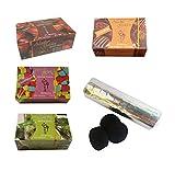 Outletdelocio. Pack 4 Hierba para cachimba Shisha sabores Cereza, Chocolate, Mojito y Chicle + Pastillas Carbon cachimba. 58324