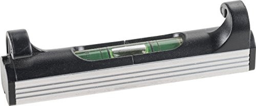 kwb Schnur-Wasserwaage, 70 mm, leicht, klein, handlich und robust, mit Aluminium Unterseite, ideal für Richtschnur, in Schwarz-Silber
