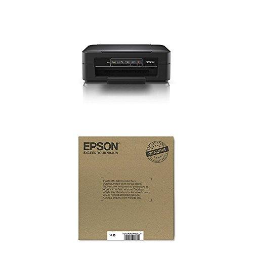 Epson Expression Home XP-245 3 in 1 Tintenstrahl-Multifunktionsgerät schwarz + Original T2986 Erdbeere Claria Home Tinte (CYMK) + passende Druckerpatrone
