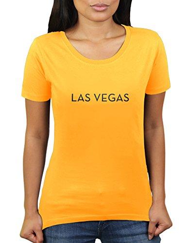 (Las Vegas - Damen T-Shirt von KaterLikoli, Gr. L, Gold Yellow)