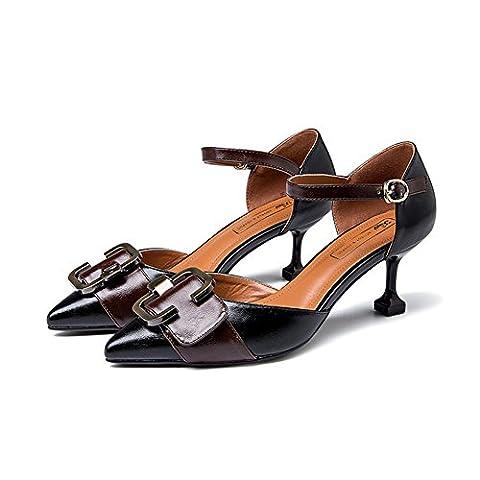 printemps pointu chaussures à talon,chaussures asakuchi papillons-A Longueur du pied=23.8CM(9.4Inch)