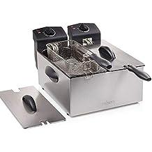 Eurowebb freidora de Doble Compartimento – pequeño electrodoméstico Cocina eléctrica