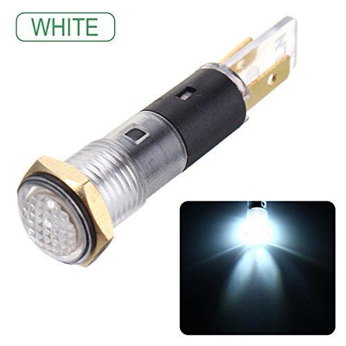YONGYAO 14Mm 12V LED Panneau Pilote Dash Light Indicateur Voyant Voiture Bateau Signal Lampe-Rouge