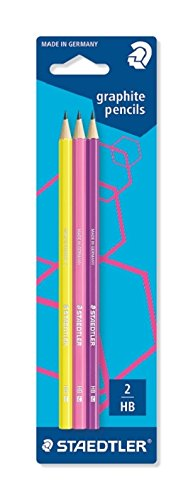 Staedtler 180F BK3-1 Bleistift WOPEX HB 3 ST, Blisterkarte, neon