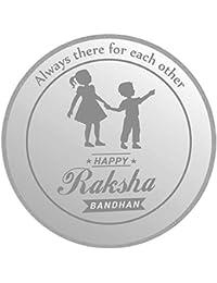 IBJA Gold 20 Gm, (999) Raksha Bandhan Each Other Silver Precious Coin
