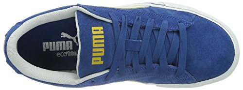 Puma Puma S Lo Core+, Baskets Basses mixte adulte Bleu - Blau (limoges-white 02)