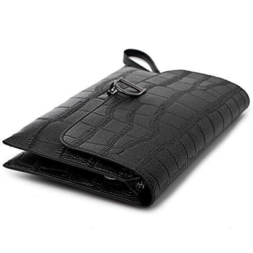 Frau Schultertasche Messenger Bag Stein Korn Kleines Quadrat-Paket Black
