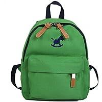�� Mochila Unisex Escolar, �� Zolimx Bebé Niñas Chicos Niños Caballo Huella Animal Impresiones Mochila Infantil Bolsa de Escuela (31 * 10 * 27 cm, Verde)