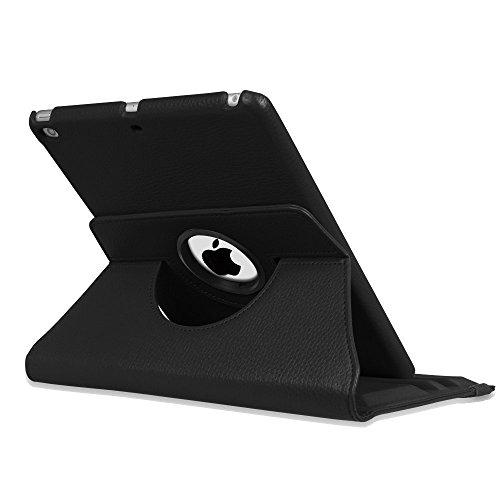 Fintie iPad 9.7 Zoll 2017 / iPad Air Hülle - 360 Grad Rotierend Stand Smart Cover Case Schutzhülle mit Auto Schlaf / Wach Funktion für Apple iPad 2017 Neue Modell / iPad Air 2013 Modell, Schwarz - 8