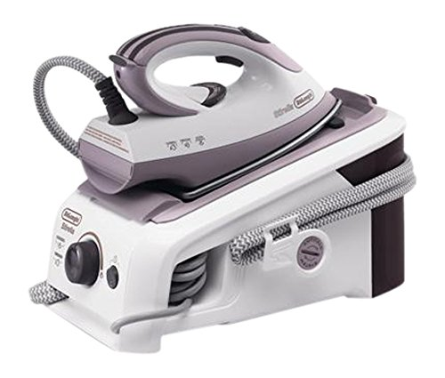 DeLonghi 551971 - Plancha de vapor, 2200 W, blanco y púrpura