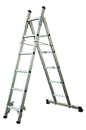 Tech Craft itcmfl 3-1Escalera multifunción 11niveles de Articulación-Escalera escalera Andamio aluminio escalera, Capacidad de Carga hasta 150kg