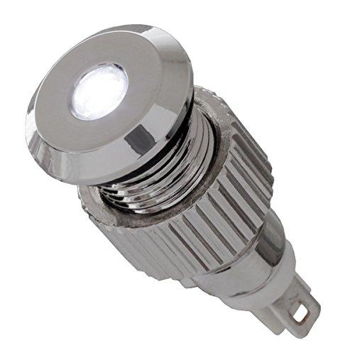 12V LED Signalleuchte IP67 weiß mit 8mm Metallfassung Signallampe Meldeleuchte Kontrollleuchte Leuchtmelder - Led-meldeleuchte