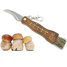 Cuchillo para setas de acero inoxidable con cepillo/pincel para limpiar, testado por la
