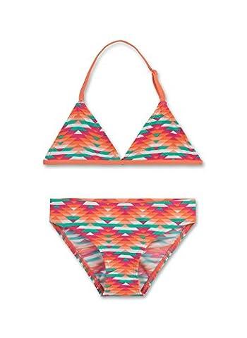 Sanetta Mädchen Multiway Bikini 440379, Gr. 152, Orange (creamy Coral